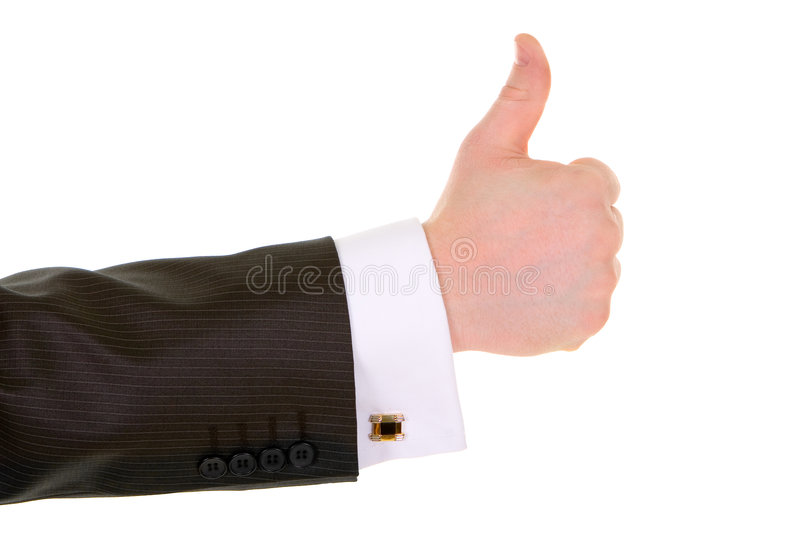 Business man hand gesture. Isolated in white background stock photos