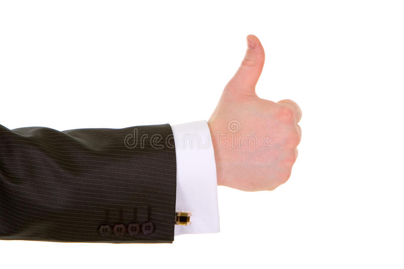 Business man hand gesture stock photography
