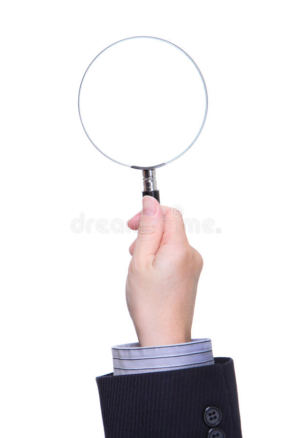 Download Business Man Hand Holding Magnifying Glass Stock Image - Image: 28889419