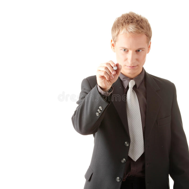 Download Business Man Hand Holding Pen Stock Image - Image: 10784249
