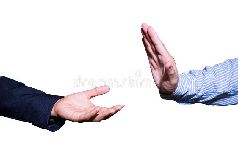 Business man hand open and ready to receive or help.man hand holding something empty isolated on white background. royalty free stock images