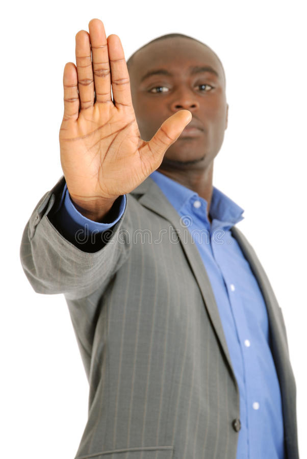 Download Business Man Hand Stop Sign Stock Photo - Image: 14680650