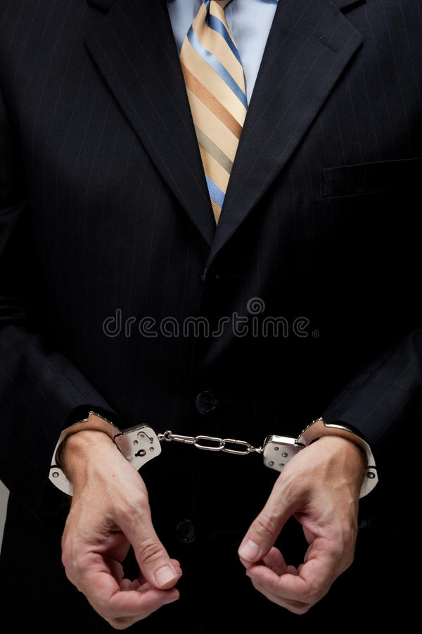 Download Business man in handcuffs stock photo. Image of hostage - 11596576
