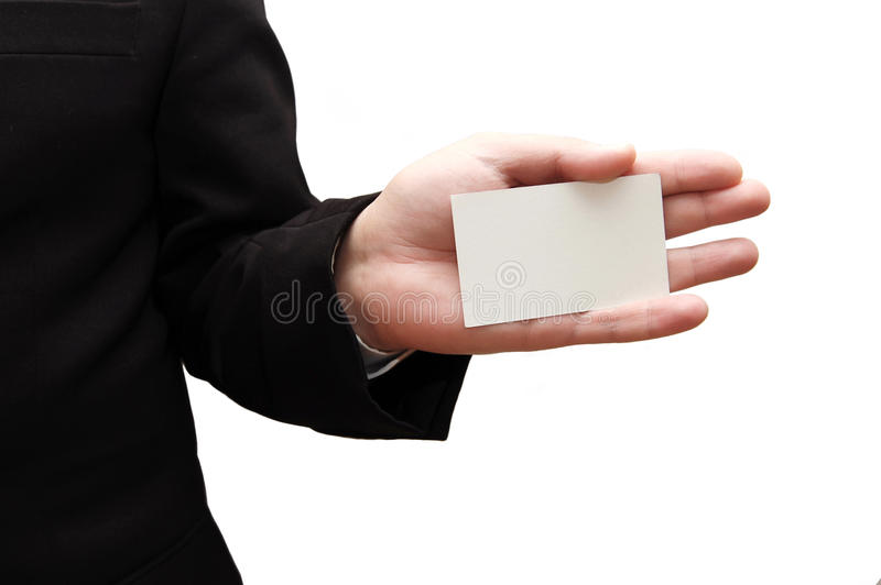 Download Business Man Handing A Blank Business Card Stock Photo - Image of card, finance: 10194648