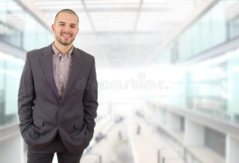 Business man. Happy business man portrait at the office royalty free stock photos