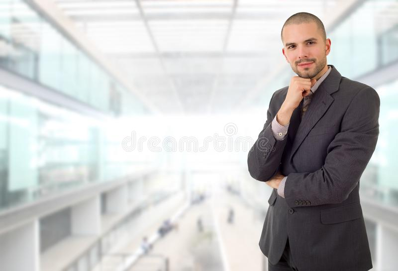 Business man. Happy business man portrait at the office royalty free stock image