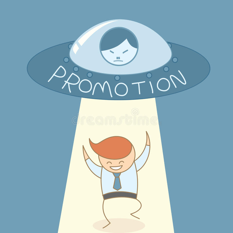 Business man happy in career promotion royalty free illustration