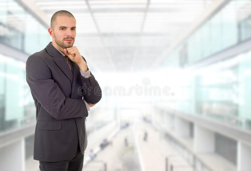 Business man. Happy business man portrait at the office stock photography