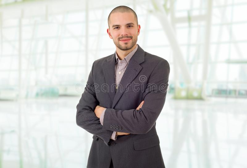Business man. Happy business man portrait at the office royalty free stock images