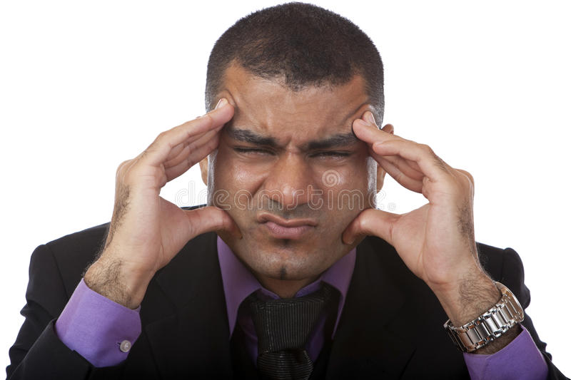 Download Business Man Has Headache Of Stress Stock Image - Image: 11415971
