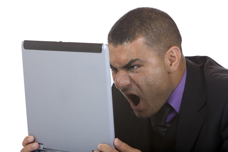 Download Business Man Has Stress With Computer Stock Photo - Image: 11480532