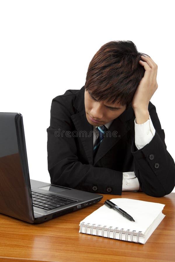 Business man having stress or a headache