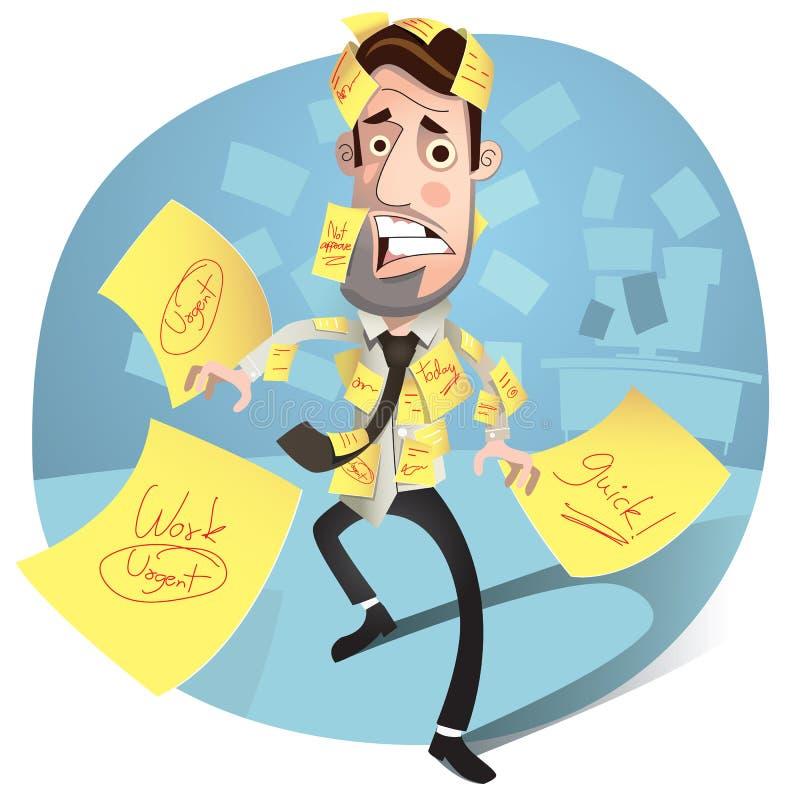 Business man headache. vector illustration