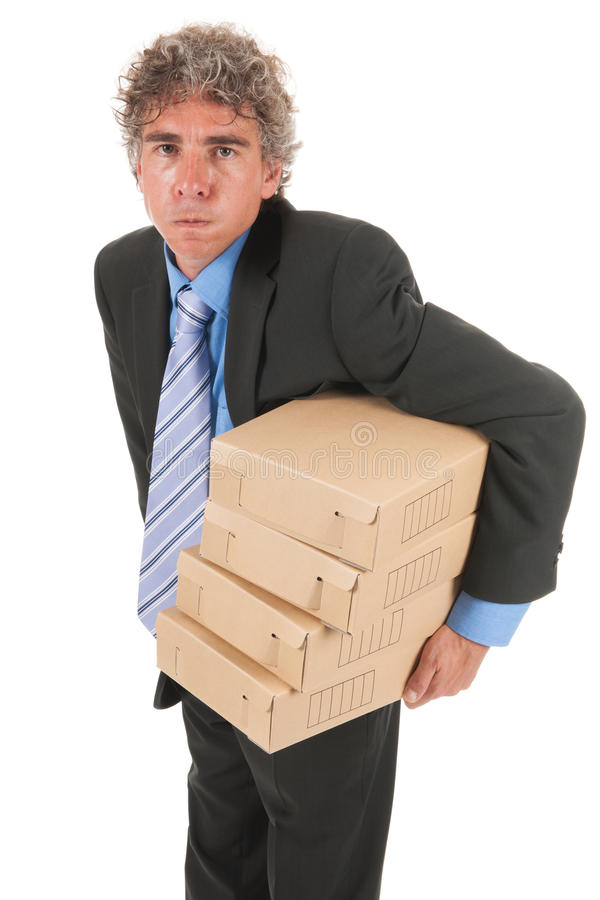 Download Business Man With Heavy Archive Stock Photo - Image: 27647608