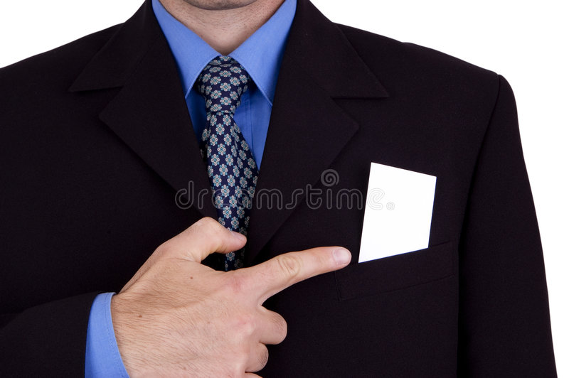 Download Business man with his card stock photo. Image of concept - 1402522