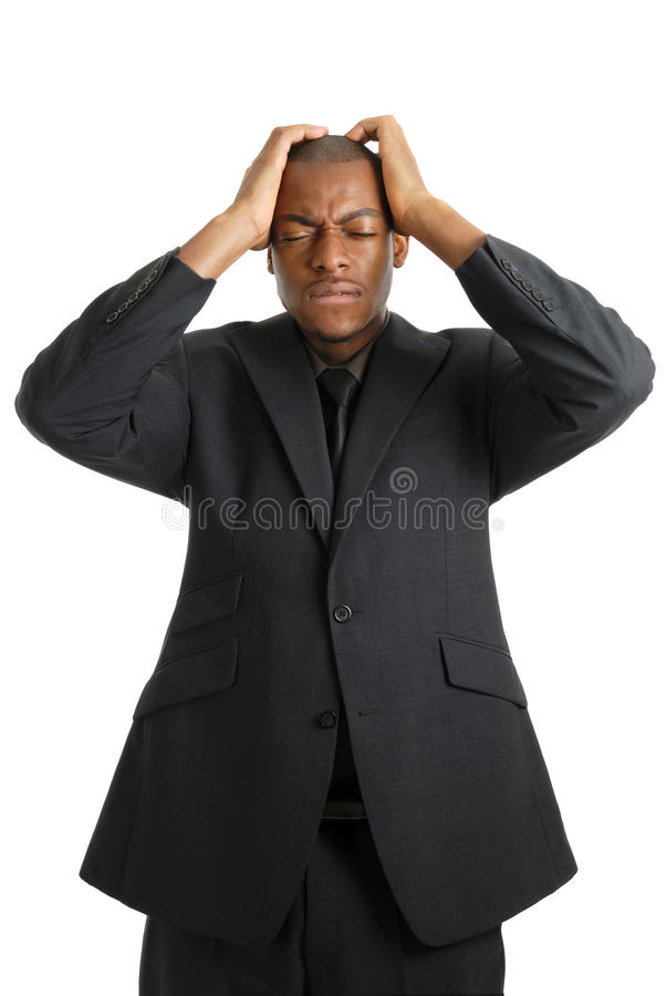 Download Business Man With His Hands On Head Due To Failure Stock Image - Image of entrepreneur, serious: 10468689