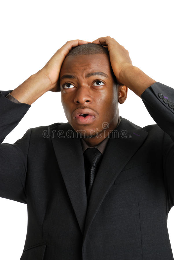 Download Business Man With His Hands On Head Due To Failure Stock Photo - Image: 10469008