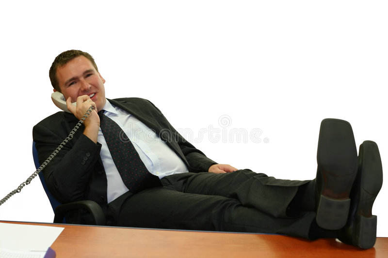 Business man in his office royalty free stock images
