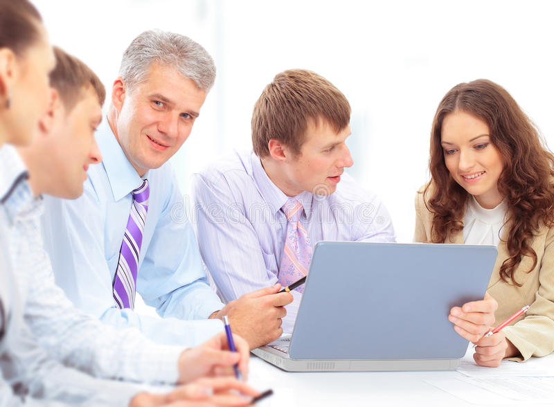 Business Man And His Team Royalty Free Stock Photo