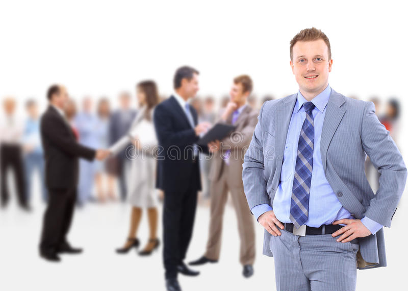 Download Business man and his team stock image. Image of entrepreneur - 21915389