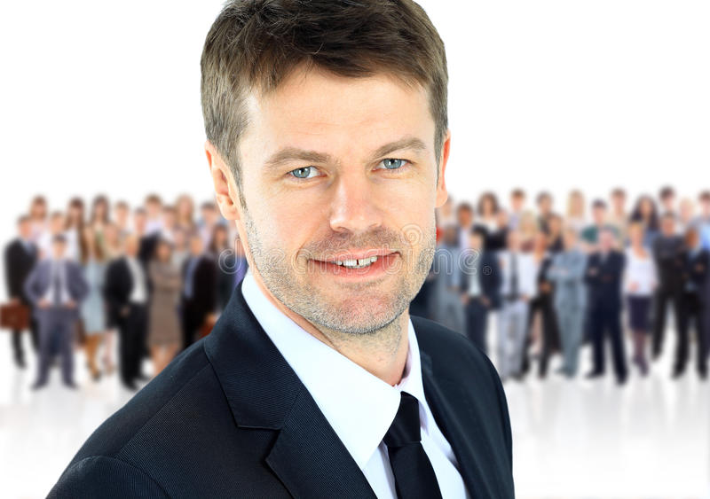Download Business man and his team stock photo. Image of leader - 24245028