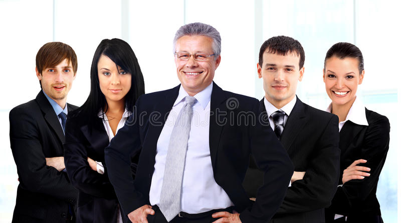 Download Business man and his team stock image. Image of executive - 33067599