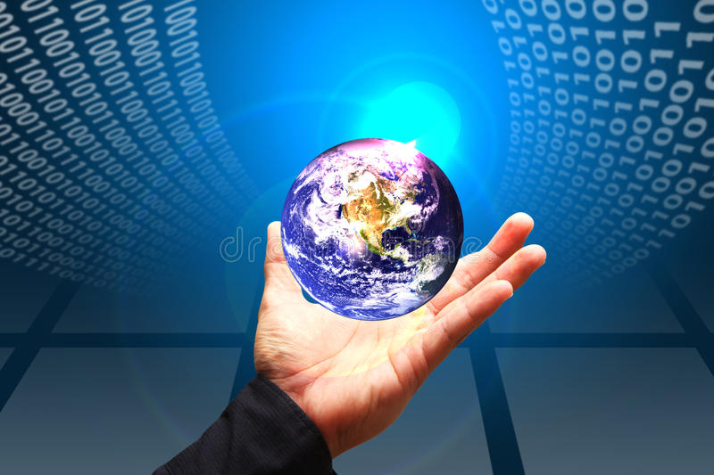 Download Business Man Hold The Digital World Stock Image - Image of idea, creative: 24355923