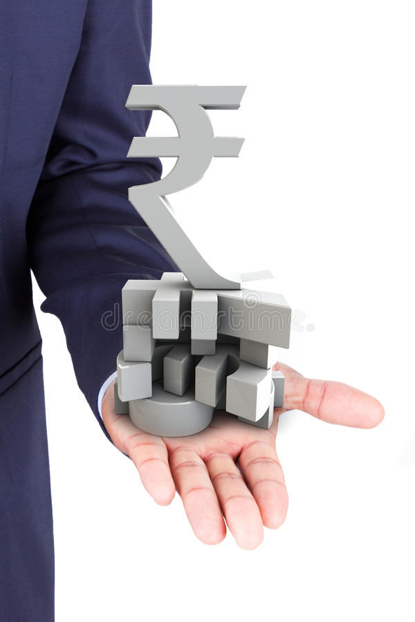 Download Business Man Holding Currencies Symbol Stock Image - Image: 34260159