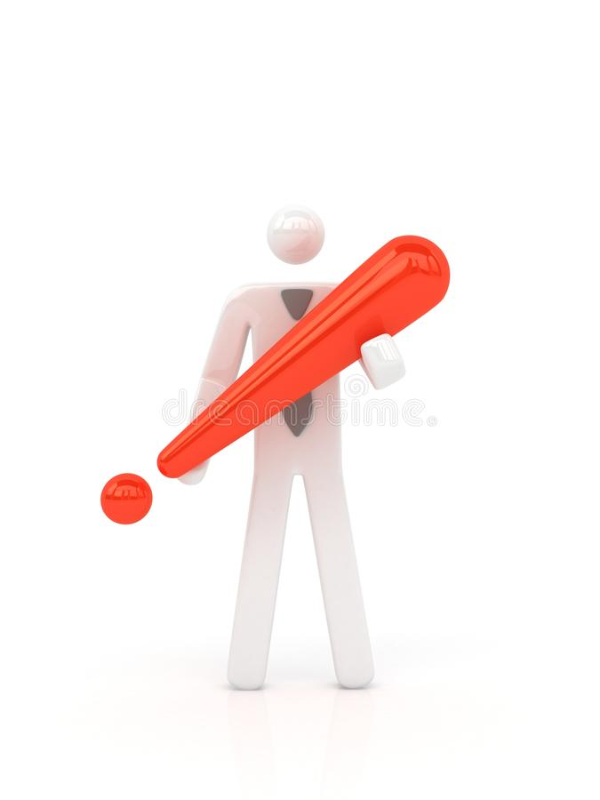 Download Business Man Holding Exclamatory Mark. Stock Illustration - Image: 12003870