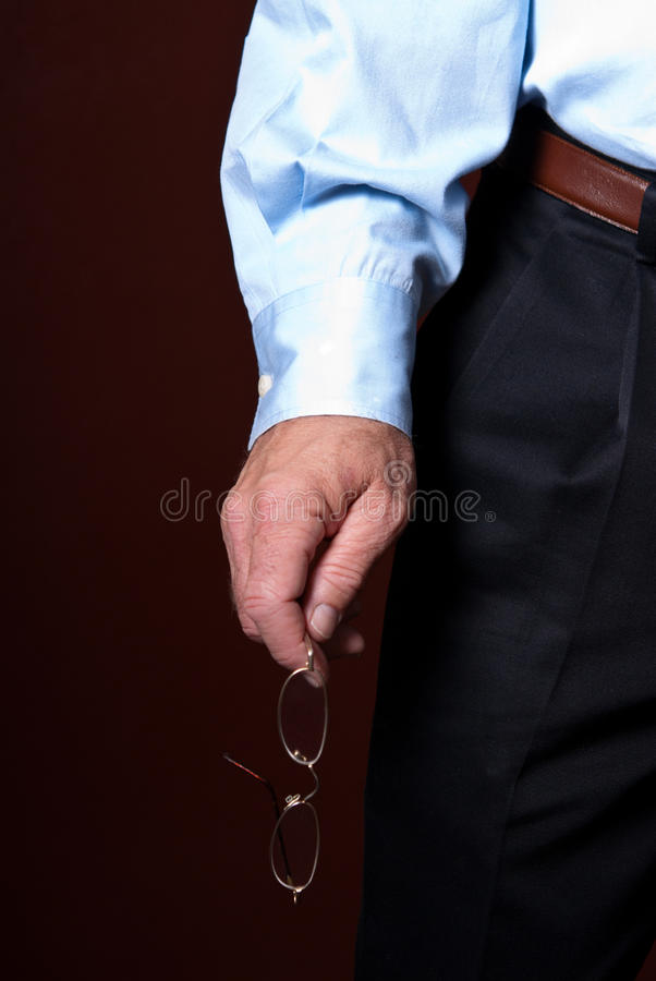 Download Business Man Holding Glasses Stock Image - Image: 18046231