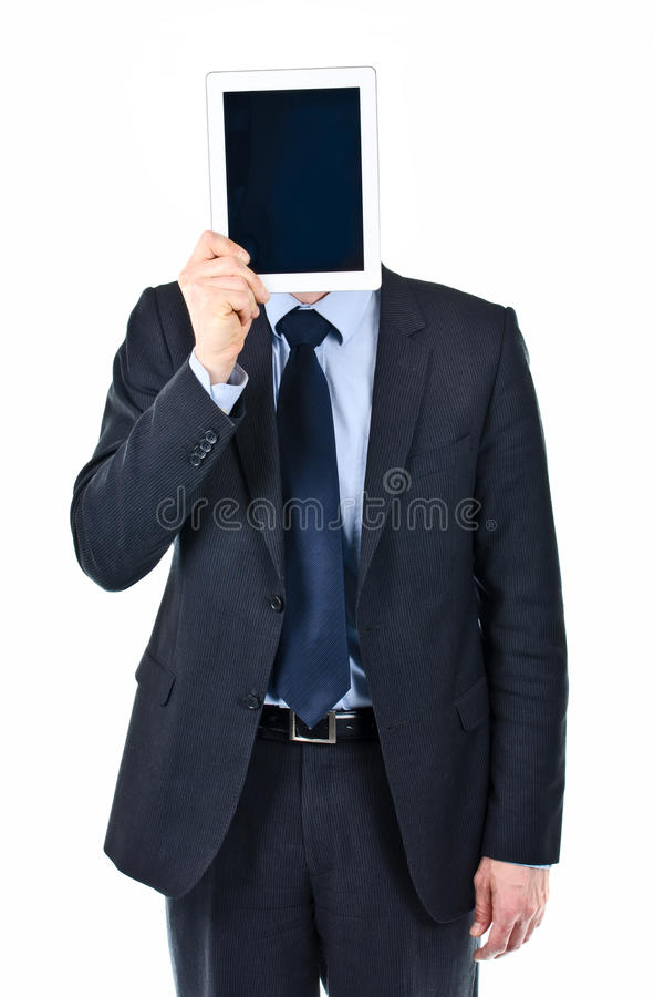 Download Business man holding iPad stock photo. Image of shame - 30305448