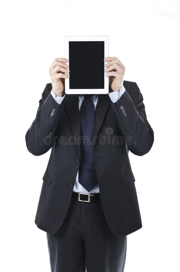 Download Business man holding iPad stock image. Image of computer - 30305635