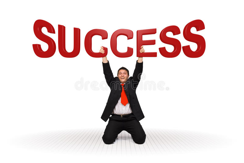 Download Business Man Holding Success Text Royalty Free Stock Image - Image: 16244576