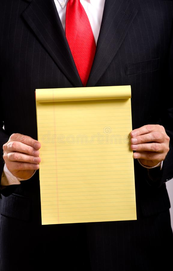 Business Man Holding Tablet royalty free stock image