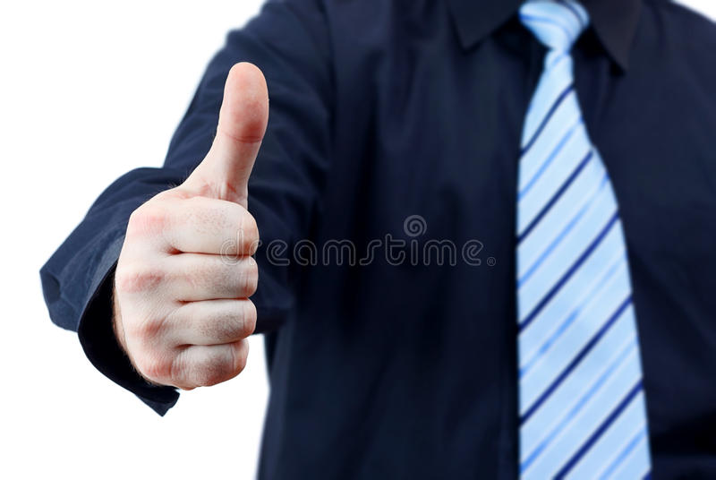 Download Business Man Holding Thumb Up Stock Image - Image: 25934879
