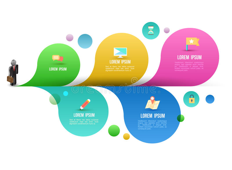 Business man icons with abstract water colour dropper vector illustration