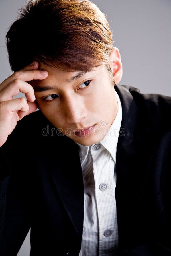 Free Business Man In Deep Thinking Royalty Free Stock Image - 7055956