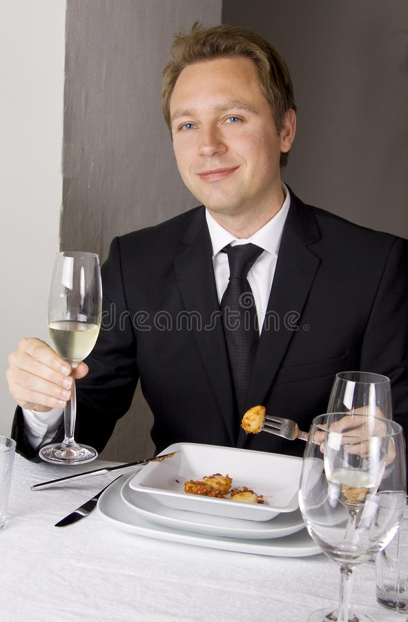 Free Business Man Is Having Lunch Stock Photos - 10606353