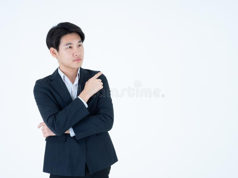 Business man point something royalty free stock photography