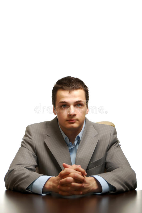 Free Business Man Isolated Against White Background Royalty Free Stock Image - 9481156