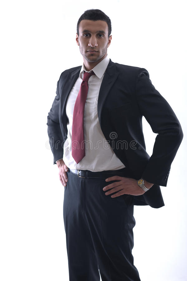 Business Man Isolated Over White Background Royalty Free Stock Images