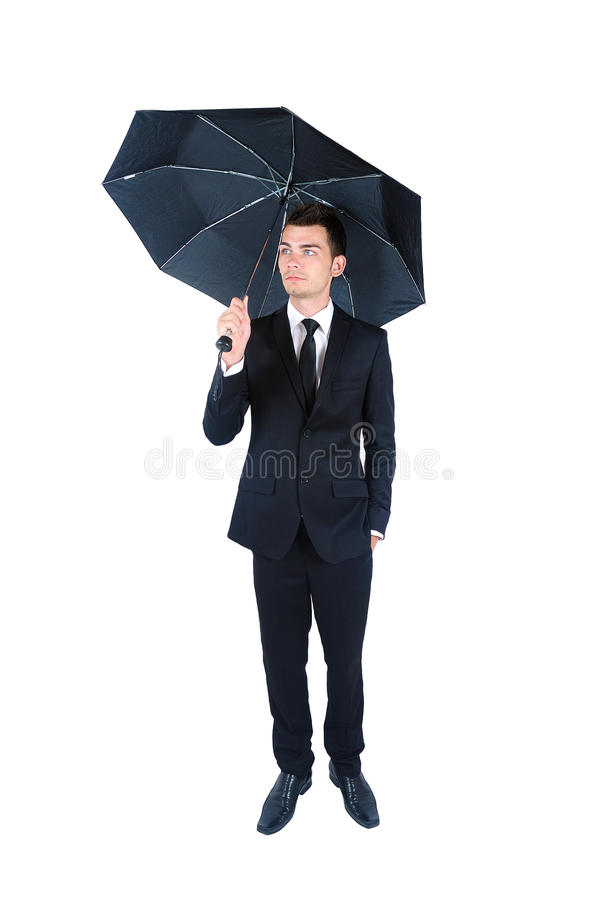 Business man isolated stock image