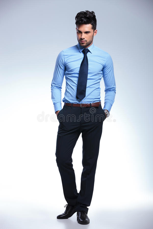 Download Business Man Without Jacket With Hands In Pocket Stock Image - Image: 32079165