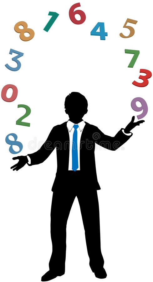 Download Business Man Juggling Financial Number Crunching Stock Vector - Image: 27769654