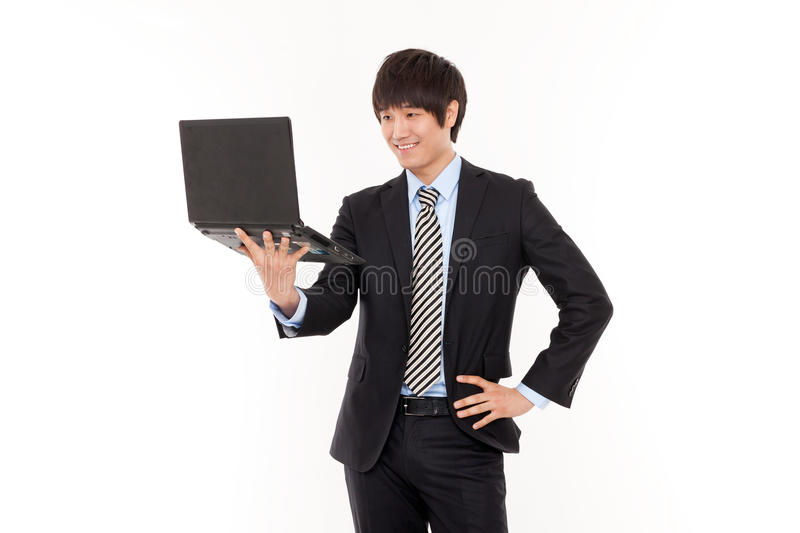 Download Business Man And Laptop. Royalty Free Stock Image - Image: 24631896