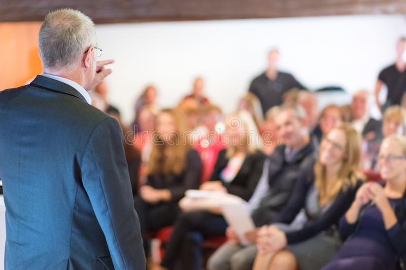 Businessman making a business presentation. royalty free stock photography