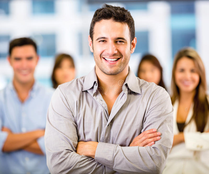 Download Business Man Leading A Team Stock Photo - Image: 29227422