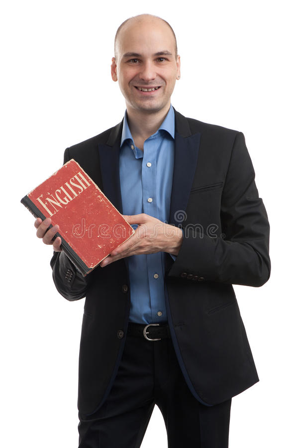 Business man learning English royalty free stock photo