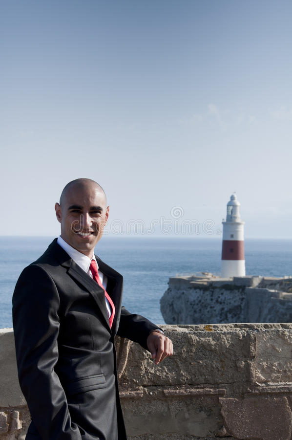Download Business Man & Lighthouse stock photo. Image of professional - 21610456