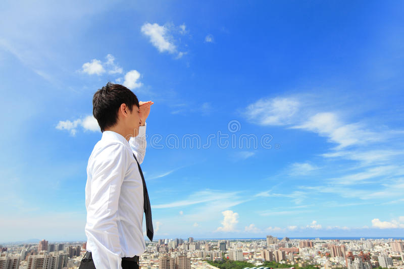 Business Man Looking Away To Copy Space Royalty Free Stock Photo